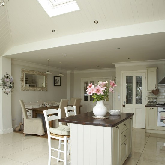 Open-plan neutral kitchen | Kitchen-diners | housetohome.co.uk