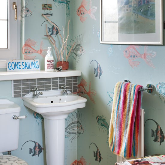 Quirky Cloakroom Real Homes New England Seaside