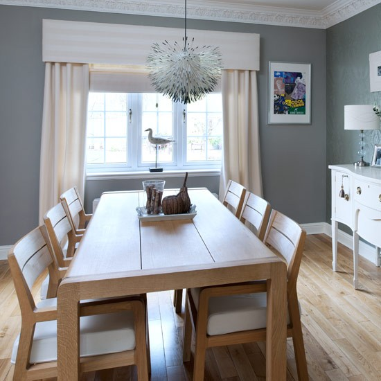 Dining room real homes new england seaside inspired for New dining room looks