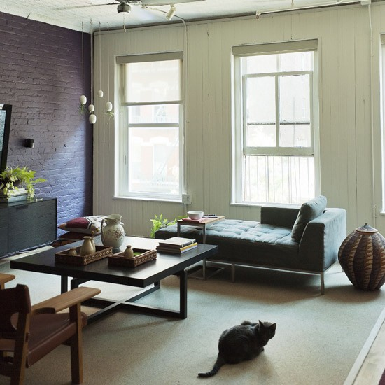 warehouse chic living room modern living room designs