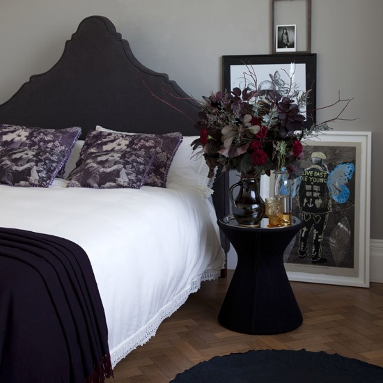 Gothic bedroom | Modern bedrooms | Modern bedroom headboard | Housetohome
