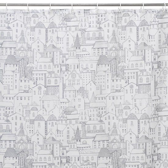 Chalk town shower curtain from M&S | Shower curtains | Bathroom | PHOTO GALLERY | 25 Beautiful Homes | Housetohome
