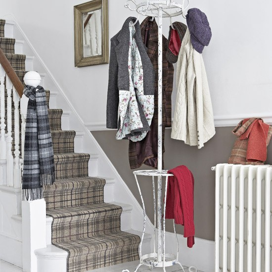 Tweed-Inspired Hallway by House to Home