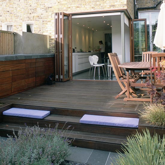 Different decking levels garden decking ideas for Garden decking design ideas