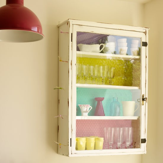 Funky wall cupboard real homes colourful period town for Funky shelving ideas
