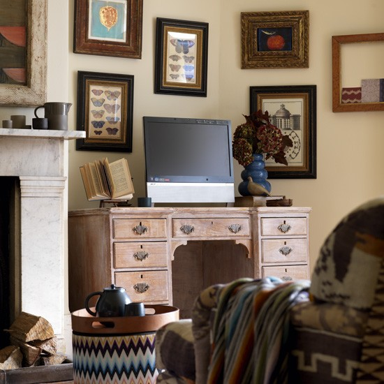 Antique-style home office | Home office media storage ideas | Country Homes & Interiors