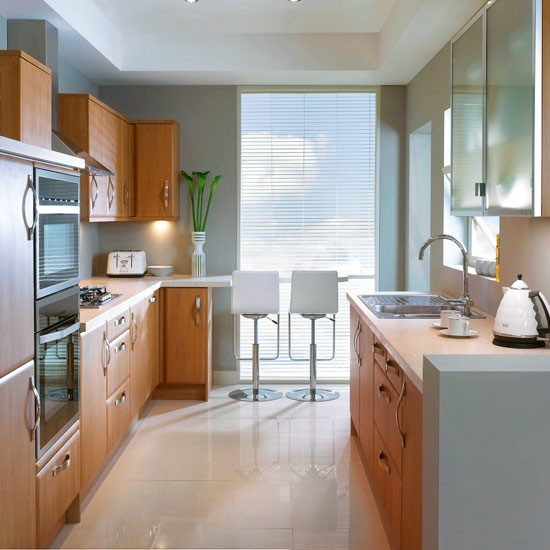 Small Galley Kitchen With Dining Area Designs Uk House Furniture