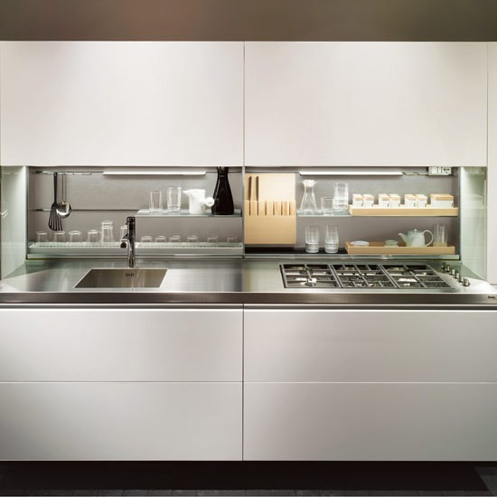Minimalist kitchen galley kitchen design ideas for Galley kitchen ideas uk