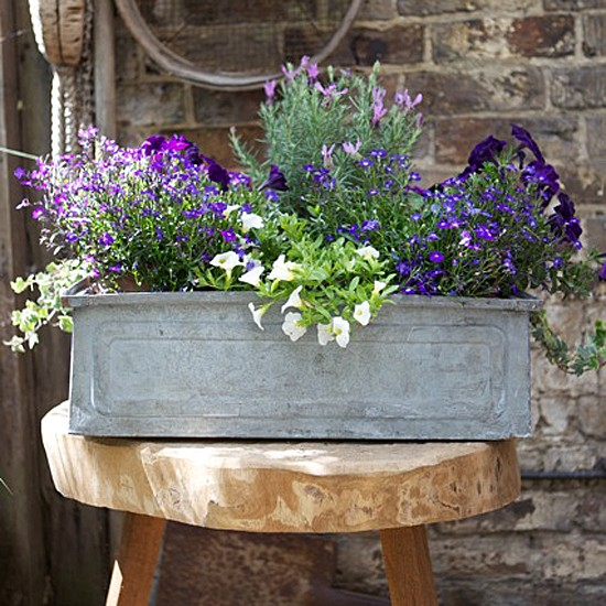 We love this vintage planter from The Balcony Gardener