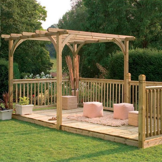 Garden decking and patio ideas garden decking and patio for Garden decking homebase