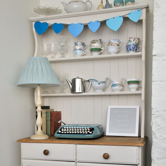 Painted Dresser With Bunting