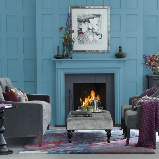 Teal blue living room | Living room colours | Living room ideas | Housetohome