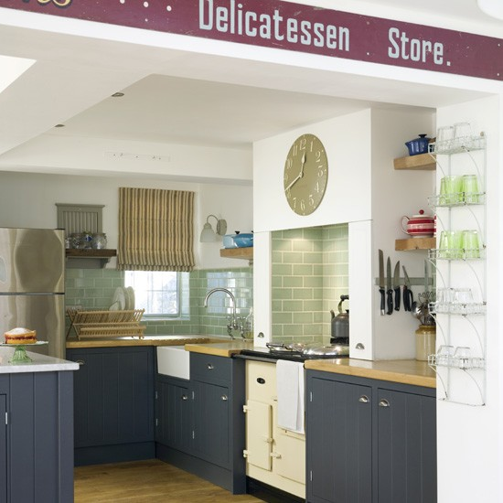 Blue country kitchen | Country kitchens | Kitchen designs | Housetohome