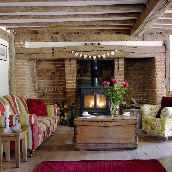 Colourful country living room | Country living rooms | Living room ideas | Housetohome