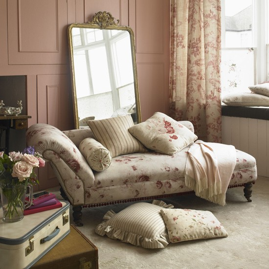 Classic pink living room | Country living rooms | Living room fabrics | Housetohome