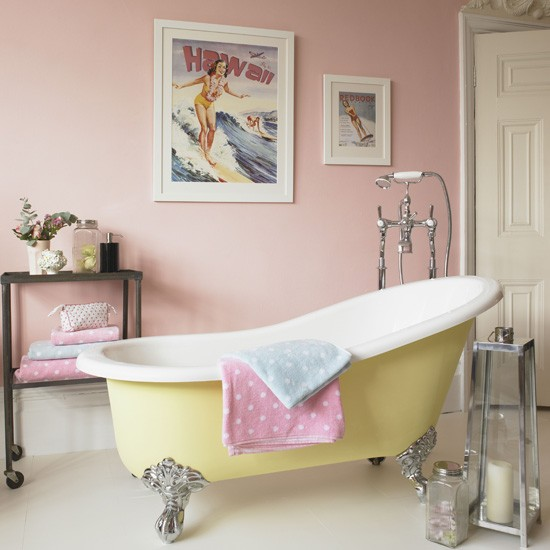 Pink bathroom | Country bathrooms | Colourful bathrooms | Housetohome