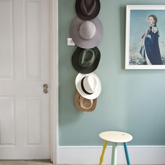 In this small hallway, space has been maximised by creating a quirky