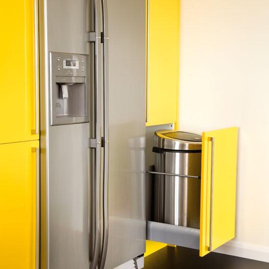 pull out bin take a tour around a bright yellow kitchen kitchen