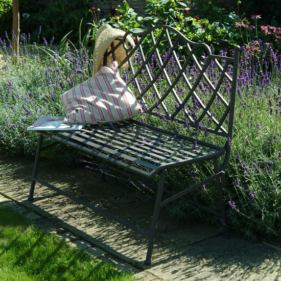 Portobello Bench from Garden Trading | Garden furniture | Outdoor furniture | Garden | PHOTO GALLERY | 25 Beautiful Homes | Housetohome
