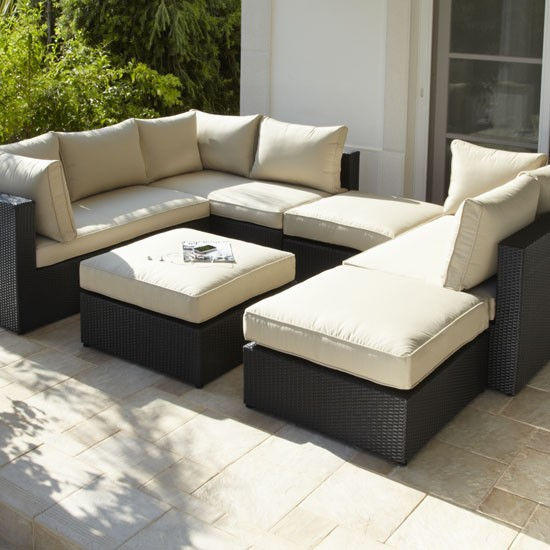Rattan Modular Sofa And Footstool From Argos Garden Furniture