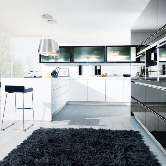 Monochrome cabinets from In-House | Handleless kitchen doors - 10 ideas | Kitchen planning | Beautiful Kitchens | PHOTO GALLERY
