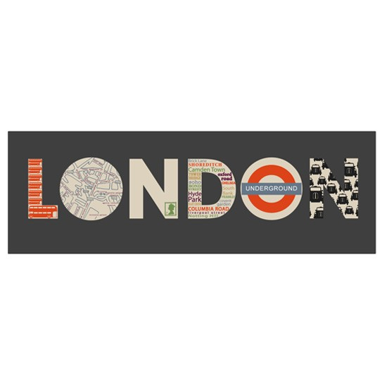 Be an out and proud lover of London with this funky canvas