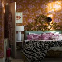 Modern toile bedroom