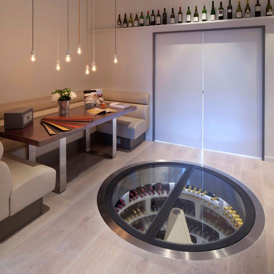 See a spiral wine cellar in action at Spiral Cellars
