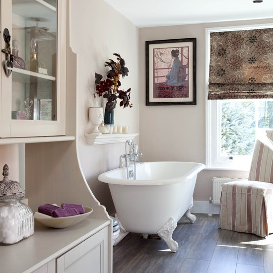 Classic neutrall bathroom | Bathroom designs | Freestanding baths | Housetohome