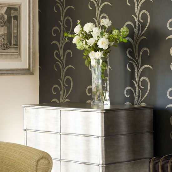 Metallic feature wall feature walls 10 ideas Living room feature wallpaper ideas