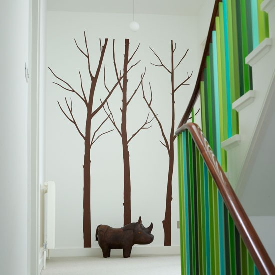 Playful wall sticker staircase | Staircase design | housetohome.