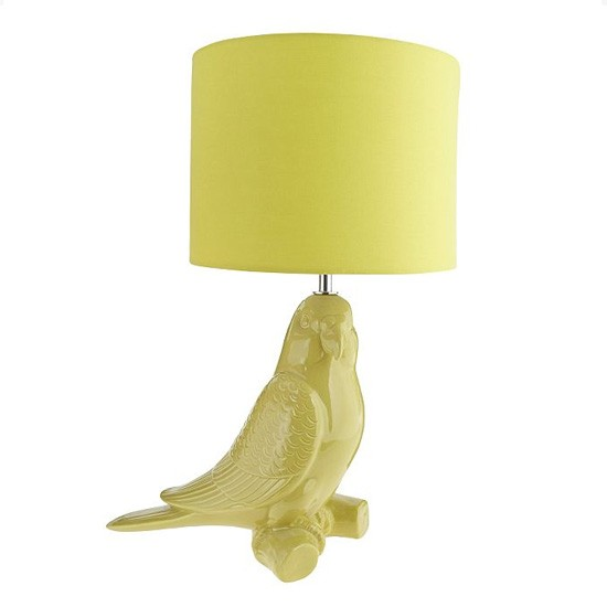 Green Parrot Table Lamp From Debenhams
