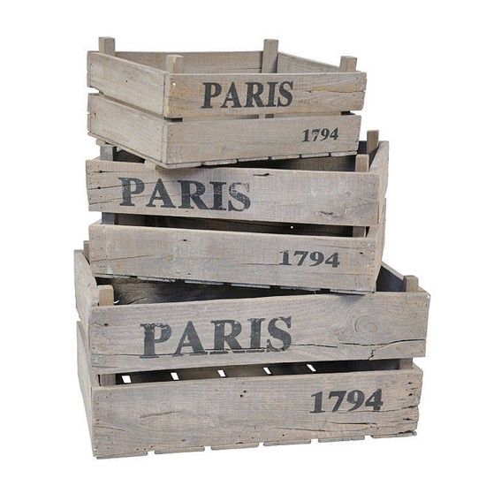 Paris Rustic Wooden Crates by notonthehighstreet.com Planters | Garden accessories | PHOTO GALLERY | Housetohome.co.uk