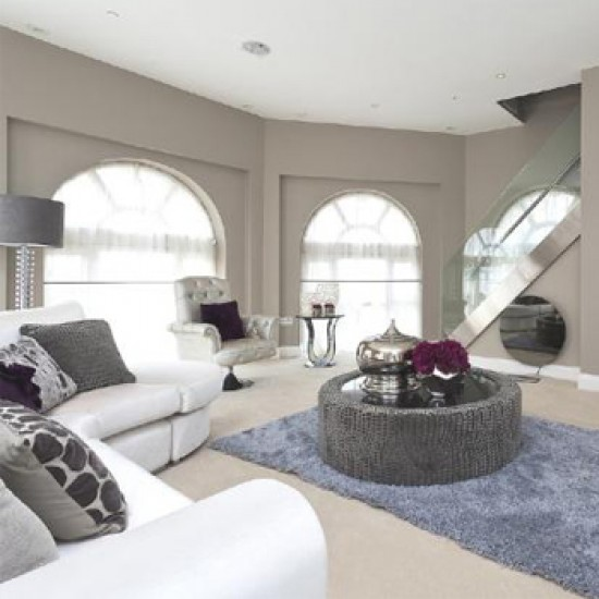 The lavish living room of their £3 million property