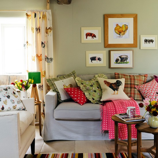 Colourful Country Living Room Living Room Designs