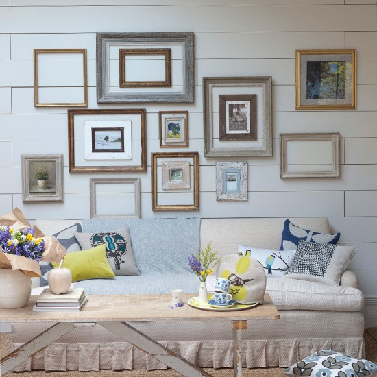 Living room frame display | Country living rooms | Living room feature walls | Housetohome