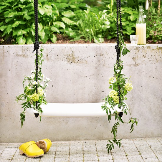 Outdoor swing | Gardens - top weird and wonderful | Livingetc | Housetohome.co.uk