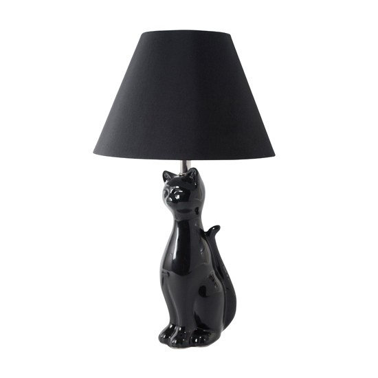 Lucky black cat table lamp from Dunelm Mill Art Deco  : h2h art deco  from www.housetohome.co.uk size 550 x 550 jpeg 17kB