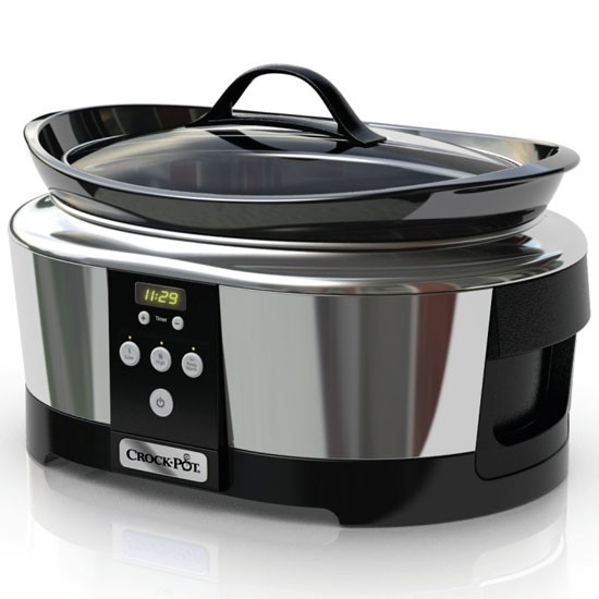 The Next Generation Crock-Pot slow cooker is finished in a sleek stainless steel