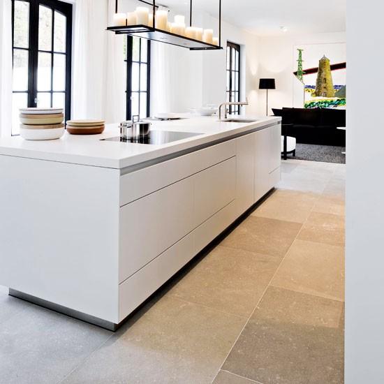 Contemporary Kitchen Floors: Paris Ceramics Limestone