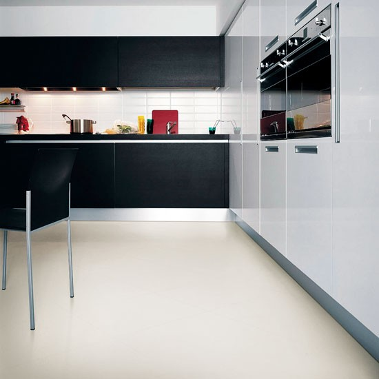 Black Vinyl Kitchen Flooring: Harvey Maria Vinyl