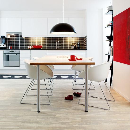 Black laminate kitchen flooring home feel good choice for Kitchen laminate flooring