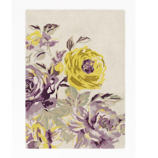 Purple grey and yellow floral rug on the hunt pemberley floral rug from ms mightylinksfo