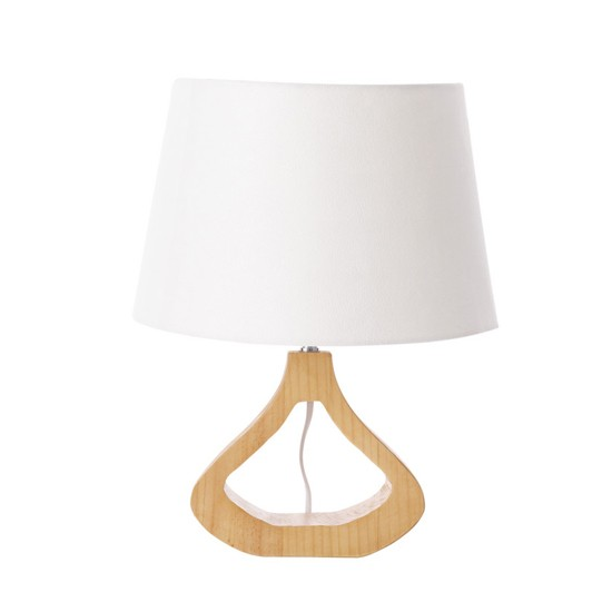 Noorland Wooden Base Table Lamp | Coastal home accessories | Living room | Housetohome