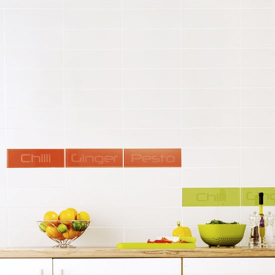 CP Group Words wall tiles | Kitchen wall tile ideas | housetohome.