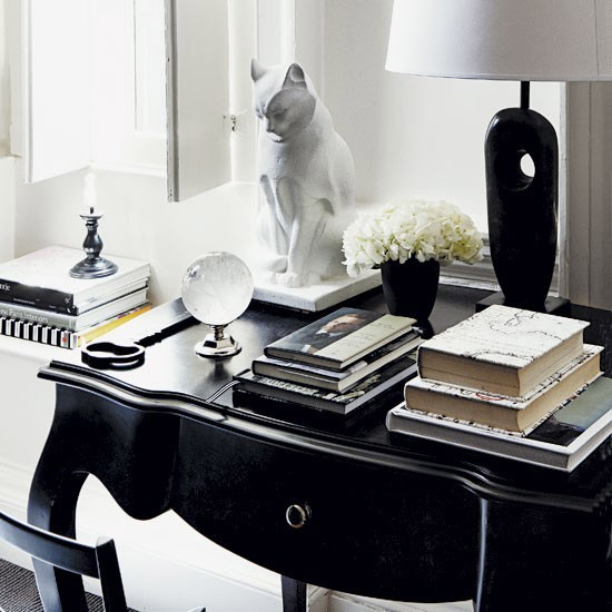 monochrome art deco style home office art deco