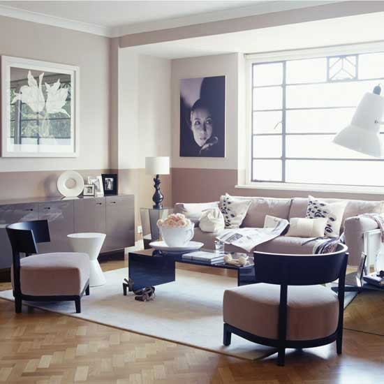 Art deco style muted pink living room art deco - Decorating art deco style ...