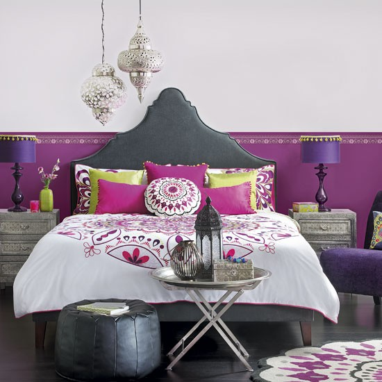 Moroccan-style bedroom | Bedroom decorating ideas | Ideal Home