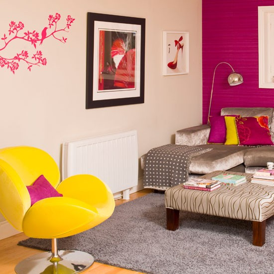 Colourful modern living room | Decorating ideas for living rooms ...