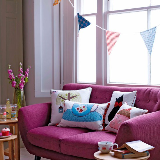 Quirky Living Room 10 Bunting Ideas